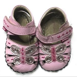 Pedipeds 0-6m pink butterfly